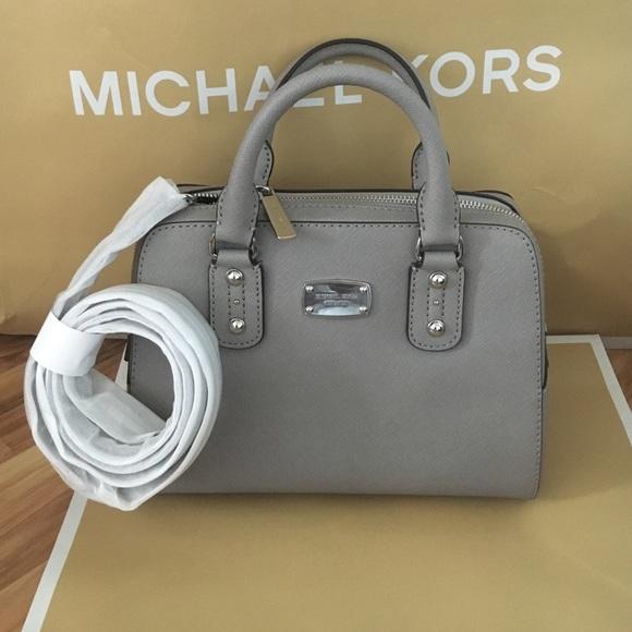515bbf61de52 🌷sale~MK leather satchel pearl grey
