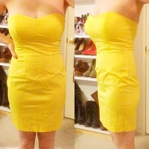 Forever 21 Dresses & Skirts - • Forever 21 • Yellow Strapless Dress
