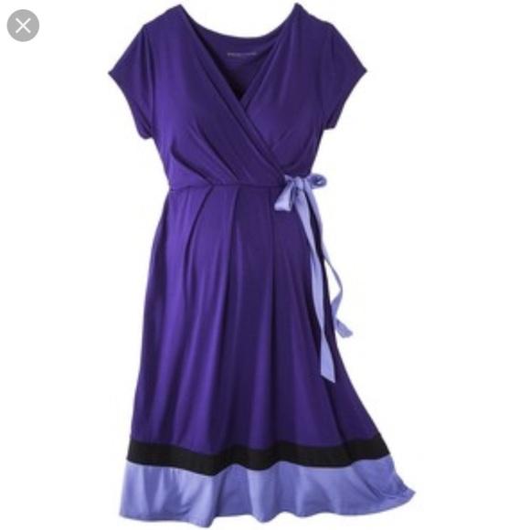 2f8e9e7c38470 Liz Lange Dresses & Skirts - LIZ LANGE Purple Nursing Friendly Maternity  Dress
