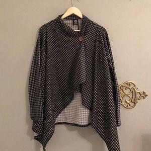 bobeau Sweaters - Bobeao One Botton Fleece Cardigan