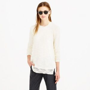 NWOT JCREW OPEN KNIT SWEATER