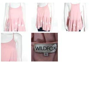 Wildfox Tops - WILDFOX PINK COTTON SPAGHETTI STRAP TANK SZ L