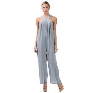 Pants - V Strap Woven Baggy Jumpsuit