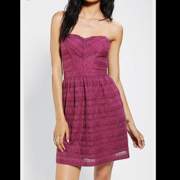 378f1df86 Urban Outfitters Dresses | Host Pick Kimchi Blue Purple Strapless ...