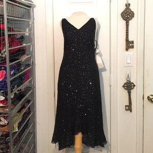 NWT Black Beaded & Sequin party dress size 4