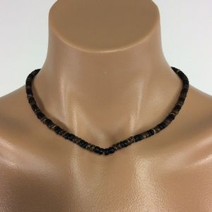 Jewelry - New Brown and Black Wood Bead Necklace