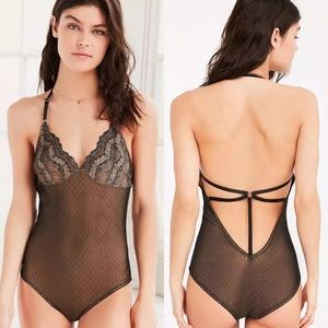 NWT Small Urban Outfitters Gold & Black Bodysuit