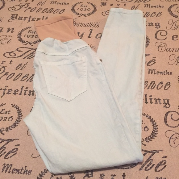 Motherhood Maternity Jeans - Maternity light blue skinny jeans size XS