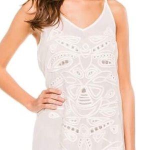 Pilyq Dresses & Skirts - PILYQ Sunbeam Sari Fringe Tank Dress