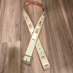 Linea Pelle Accessories - Linea Pelle mint colored belt