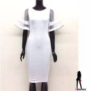 The Blossom Apparel Dresses & Skirts - White Bodycon Dress S M L