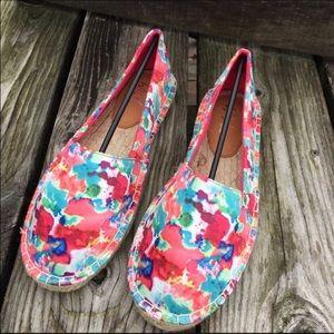 Wild Pair Shoes - Floral Pink Satin Espadrilles! NEW!!
