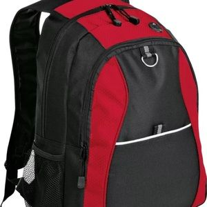 Handbags - Black and Red Honeycomb Backpack