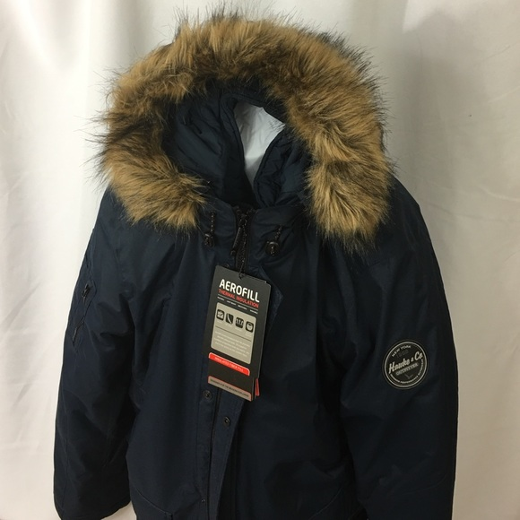 cc66a0c89c6 NEW Hawke & Co Outfitter HDP619 Navy Snorkel Parka Boutique