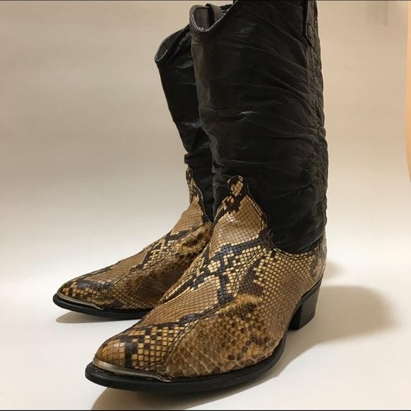 Dingo Snakeskin Cowboy Boots