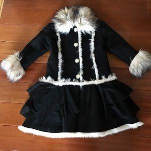 Girls faux Shearling Coat by Widgeon