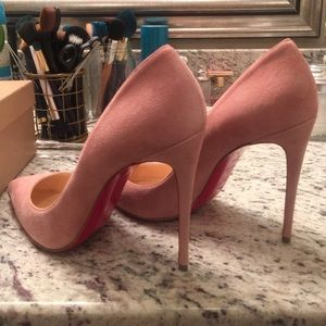 Christian Louboutin Shoes - Christian Louboutin Pigalle Follies Pink Suede