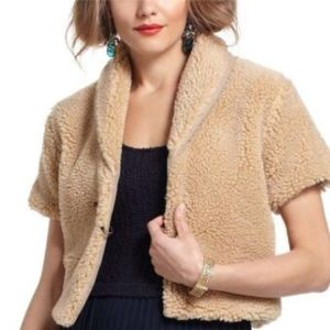 Anthropologie Kenny Cropped Shag Jacket Sz M