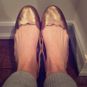 Bronze Scalloped Flats