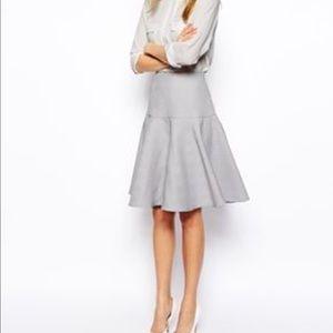 ASOS Midi full textured skirt with pleated skirt.