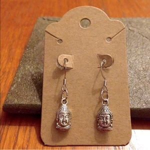 Jewelry - Silver Buddha Earrings