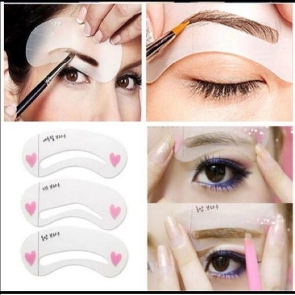 Accessories A Set Of 3 Different Style Eyebrows Shaping Cards