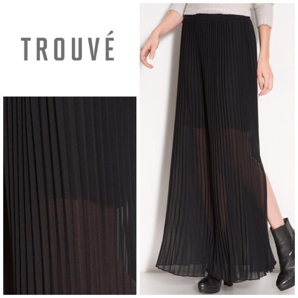 d6510cf61e Trouve Maxi pleated skirt - black. M_5852b6b056b2d6b370005596