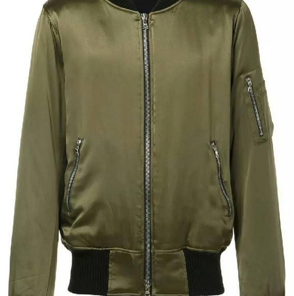29f75f251fe Jackets & Coats | Mike Amiri Bomber In Olive | Poshmark