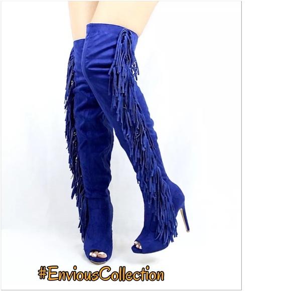 a536ae524fc ✨Brand New✨ Royal Blue Thigh High Boots