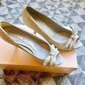 Prada calzature odnna grey bowtie pump