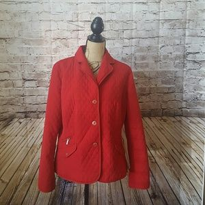 Talbots Jackets & Blazers - REDUCED Red lightweight jacket SPRING TALBOTS