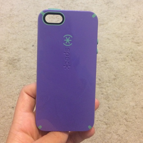 hot sale online 72588 cdeae iPhone 5s Aqua blue and purple Speck phone case