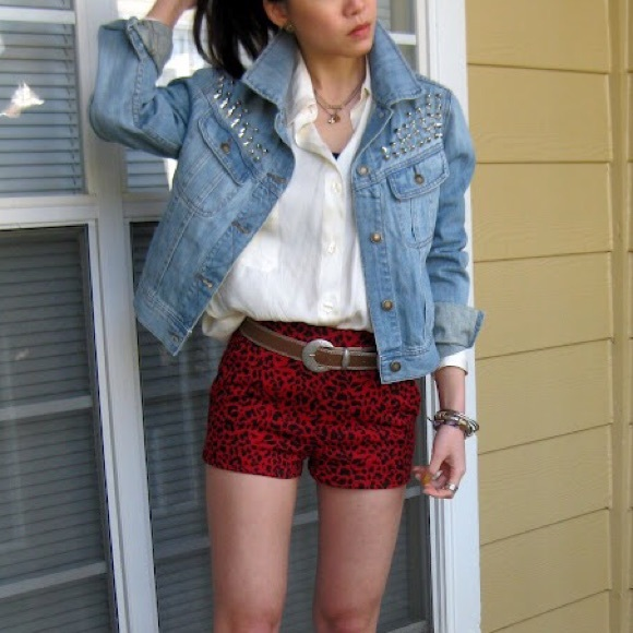Forever 21 Jackets & Coats - Like NEW studded denim jacket