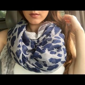 Accessories - Navy Ombré Leopard Scarf