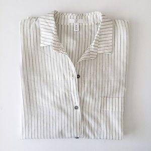 bp Tops - Bp Striped Cotton Button Down Shirt