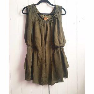 Ali Ro silk zipper front sleeveless blouse 8