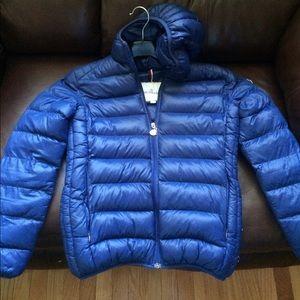 Moncler Jackets & Blazers - Moncler Blue Puffer Jacket