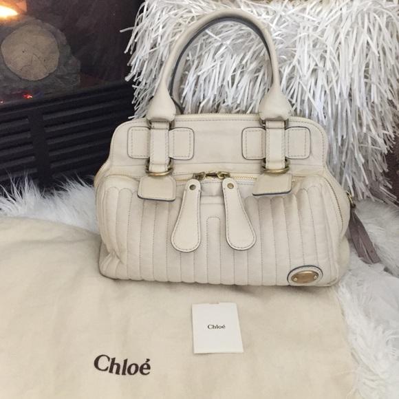609f850610 Chloe Bags   Bay Bag Off White Authentic   Poshmark