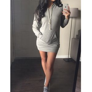 Gray Hoodie Dress