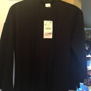 Black Zara Top with tie size medium.