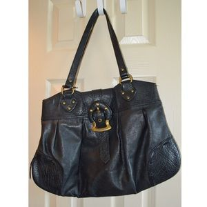 Miss Sixty black leather tote bag
