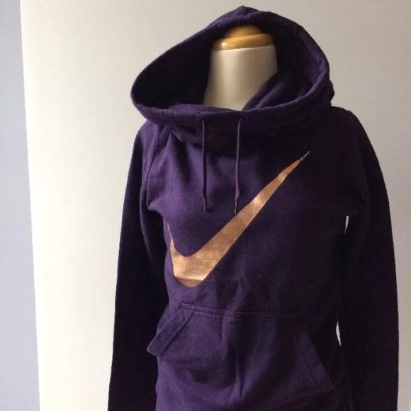 nike swoosh hoodie gold