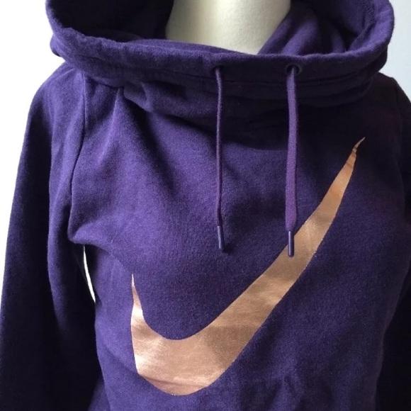 55% off Nike Tops - 🔴SOLD🔴 Nike sweatshirt rose gold swoosh XS ...