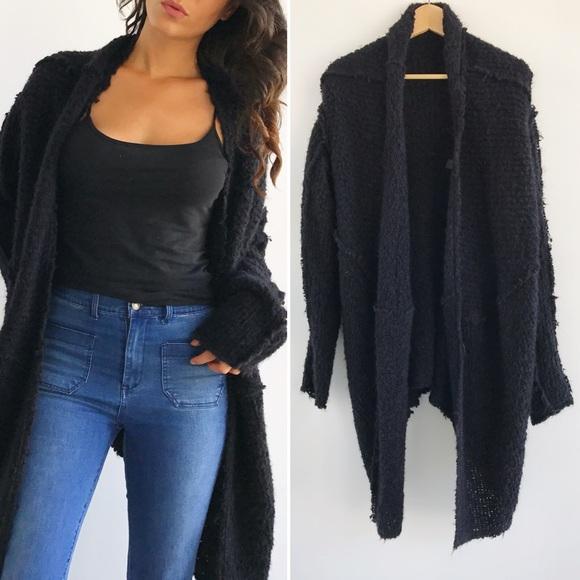 DKNY Sweaters - Oversized Donna Karan Alapaca Black Cardigan 4539e03cf