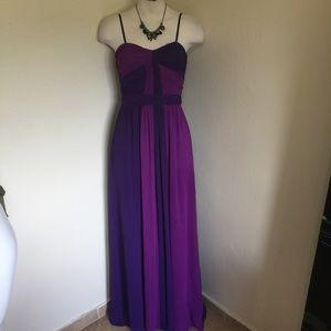 Max & Cleo Dresses & Skirts - Max & Cleo Purple Chiffon Formal Prom Dress XS 2 0