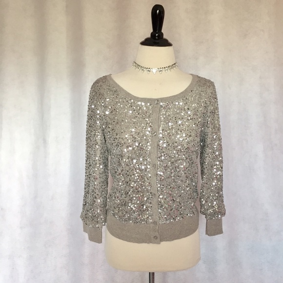 American Eagle Outfitters - NEW AE M Silver Grey Gray Sequin ...