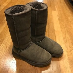 Gray Tall UGG Boots