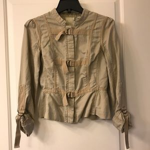 Anthropologie military style jacket