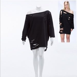 Sale! Stylish destroyed t-shirt dress or top