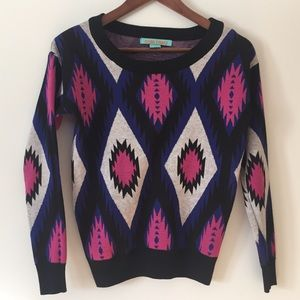 Flying Tomato Sweaters - Flying Tomato Aztec print sweater sz XS. Cute!